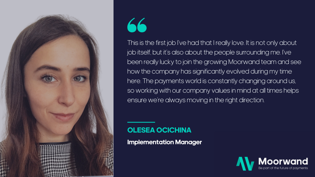 Team member Olesea speaks about our values